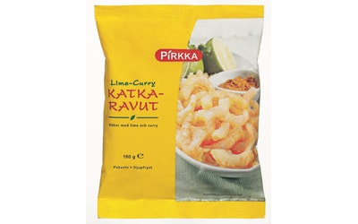 Pirkka lime-curry katkaravut 180 g