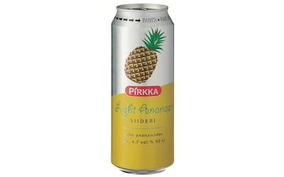Pirkka ananassiideri light 4,7% 0,5l