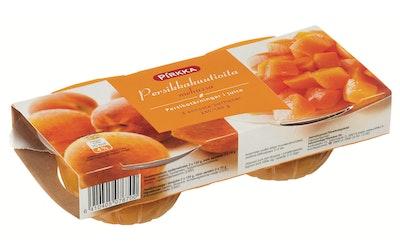 Pirkka persikkakuutiot mehussa 2 annosta 240/140 g