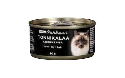 Pirkka Parhaat tonnikalaa kastikkeessa kissalle 80 g