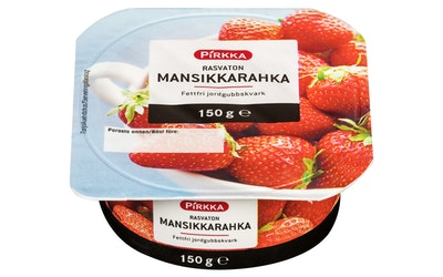 Pirkka rasvaton mansikkarahka 150 g
