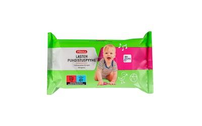 Pirkka lasten puhdistuspyyhe 60 kpl