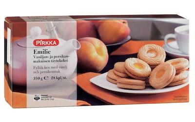 Pirkka Emile vaniljan- ja persikanmakuinen täytekeksi 350 g
