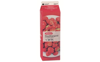 Pirkka mansikkajogurtti 1 kg