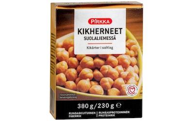Pirkka kikherneet suolaliemessä 380g/230g