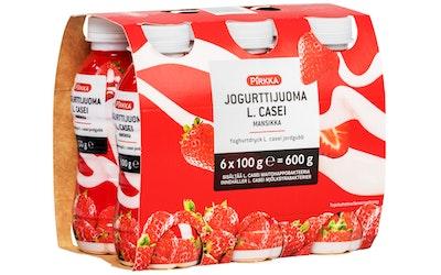 Pirkka jogurttijuoma L. casei mansikka 6x100g