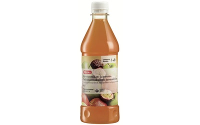 Pirkka Kevyt persikan- ja passionhedelmänmakuinen juomatiiviste 0,5 l