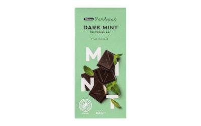 Pirkka Parhaat Dark Mint täytesuklaa 150g UTZ - kuva