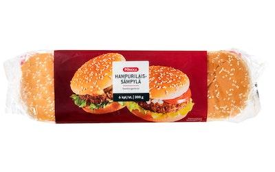 Pirkka hampurilaissämpylä  6kpl/300g