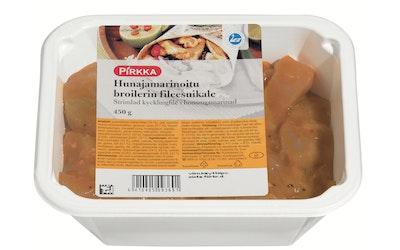 Pirkka hunajamarinoitu broilerin fileesuikale 450 g
