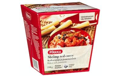 Pirkka Shrimp red curry katkarapuja ja jasmiimisiriisiä 350 g