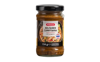 Pirkka keltainen currytahna 114g