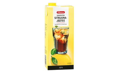 Pirkka sokeriton sitruunajäätee 1,5l