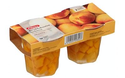 Pirkka persikkakuutiot mehussa 460/270g
