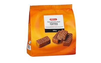 Pirkka toffeenmakuinen suklaavohvelipala 220g