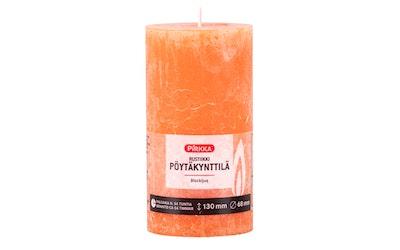 Pirkka rustiikki pöytäkynttilä oranssi 130x68mm n. 54h - kuva