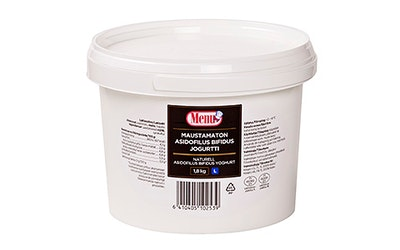 Menu maustamaton asidofilus-bifidus jogurtti 1,8kg laktoositon