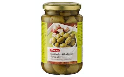 Pirkka kivettömät kreikkalaiset vihreät oliivit 360/180g