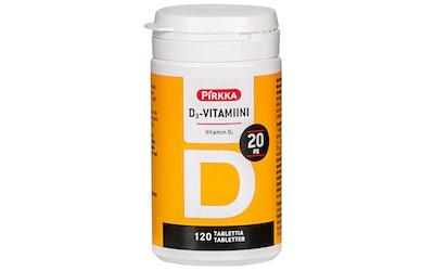Pirkka D3-vitamiini 20µg 120kpl/31g