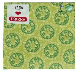 Pirkka Ivana 20kpl/24cm lautasliina Auringonkehrä  vaal. vihreä