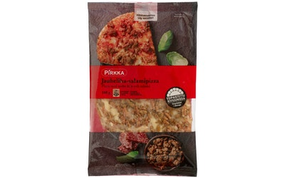 Pirkka jauheliha-salamipizza 180g