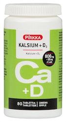 Pirkka kalsium + D3 omenanmakuinen 80kpl/107g