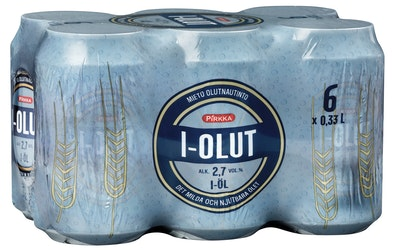 Pirkka I-olut 2,7% 0,33l tlk 6-pack
