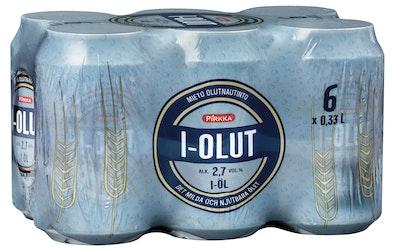 Pirkka I-olut 2,7% 0,33l tlk 6-pack - kuva