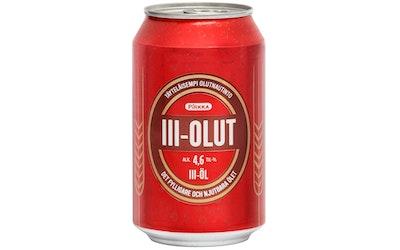 Pirkka III-olut täyteläinen 4,6% 0,33l