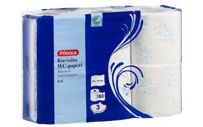 Pirkka wc-paperi 6 rl kuvioitu