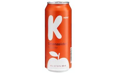 K-Menu omenasiideri 4,7% 0,5l tlk