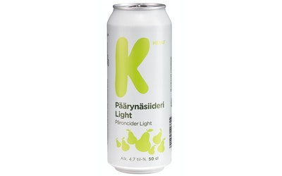 K-Menu päärynäsiid light 4,7% 0,5l tlk