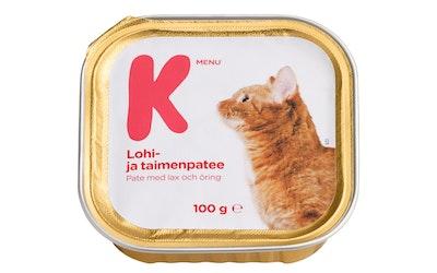 K-Menu kissan lohi- ja taimenpatee 100g