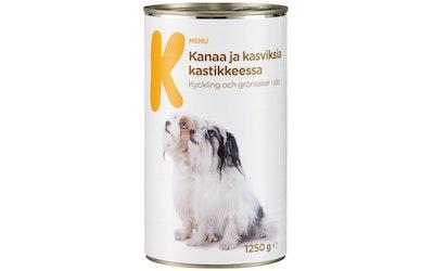 K-Menu kanaa ja kasviksia kastikkeessa 1250g