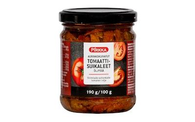Pirkka aurinkokuivattu tomaattisuikale 190/100 g