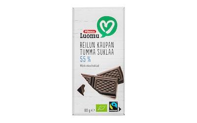 Pirkka Luomu Reilun kaupan tumma suklaa 55% 80g