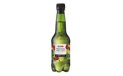 Pirkka mansikka-lime siideri light 4,7% 0,4l