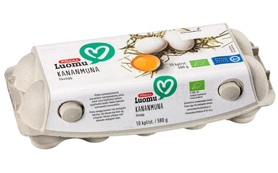 Pirkka Luomu kananmunia 10kpl/580g
