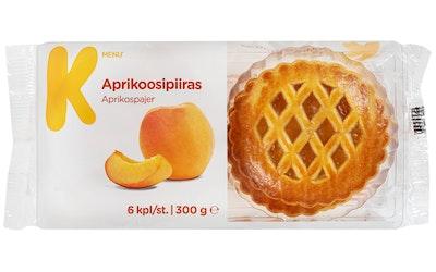 K-Menu aprikoosipiiras 6kpl/300g