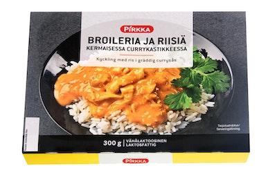 Pirkka broileria ja riisiä kermaisessa currykastikkeessa 300g