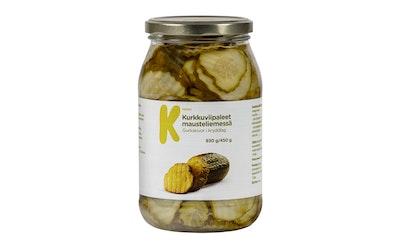 K-Menu kurkkuviipaleet mausteliemessä 930g/450g