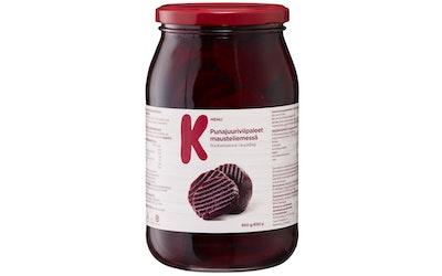 K-Menu punajuuriviipaleet mausteliemessä 950/650g