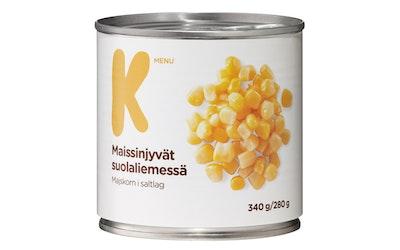 K-Menu maissinjyvät suolaliemessä 340/280g