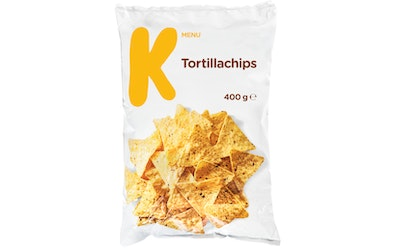 K-Menu tortillachips 400 g