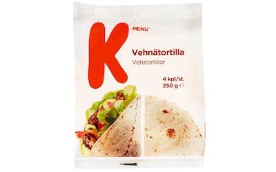 K-Menu vehnätortilla 4 kpl/250g