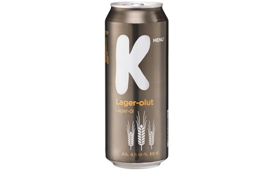 K-Menu lager-olut 4,5% 0,5l