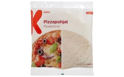 K-Menu pizzapohja 4kpl/360 pakaste