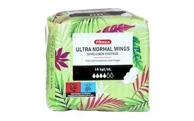 Pirkka Ultra Normal Wings siivellinen ohutside 14kpl