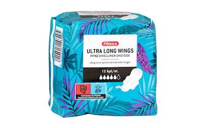 Pirkka Ultra Long Wings pitkä siivellinen ohutside 12kpl
