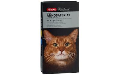 Pirkka Parhaat kissan annosateriat 2x90g/180g siipikarjanmaksaa ja Atlantin lohta